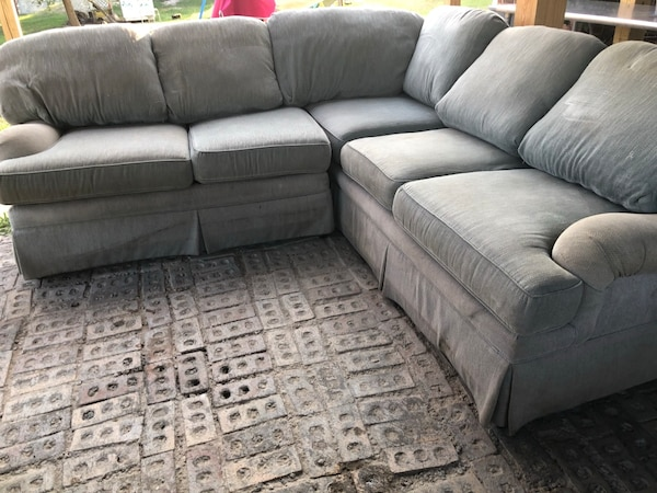 Wondrous Gray Grey Sectional Sofa Couch 2 Piece Credit Card Cash App Can Deliver Caraccident5 Cool Chair Designs And Ideas Caraccident5Info