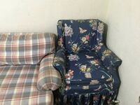 blue and white floral sofa chair Henderson, 27536