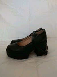 New black high heel shoes with strap Vilnius, 04127