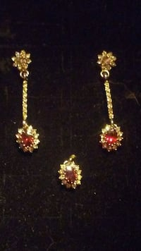 pair of ruby diamond earrings Edmonton, T6A 2E4