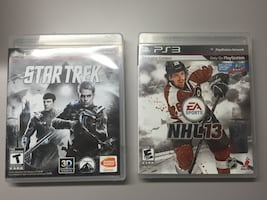 Star Trek and NHL13 for PS3