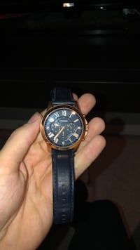 Rose gold fossil watch with blue leather strap Burlington, L7L 6S3