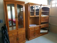 brown wooden display cabinet and cabinet Oshawa, L0B