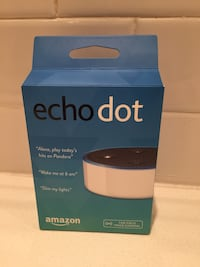 White Amazon echo dot Bluetooth speaker box