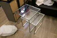 stainless steel frame glass top table Richmond, V6X 0C1