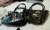 two black leather handbags 2866 km