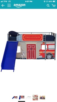 Children's Twin Loft Bed with Slide 54 km