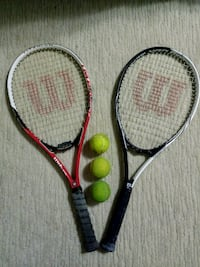Tennis rackets and 3 balls with one bag Baltimore, 21215