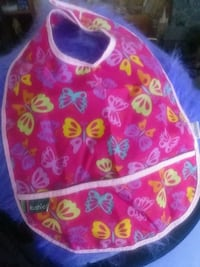 Cushies Bib Pink with Butterflies Victoria, V8T