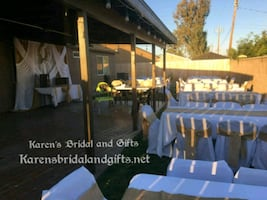 burlap baptism table cloths, runners, chair covers