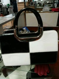 two white-and-black leather handbags Albany, 12206