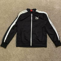 black and white adidas zip-up jacket 40 km