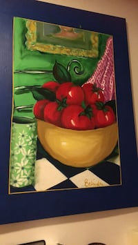 red tomatoes in bowl painting Vancouver, V5R