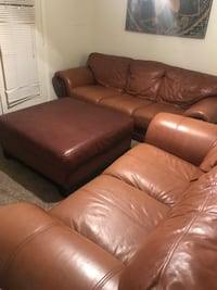 All leather couch set long-300, short 200, ottoman 150 Oklahoma City