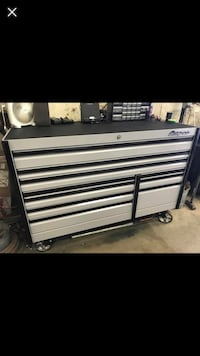 Black and gray tool chest Shorewood
