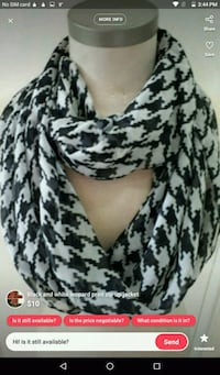 New black and white scarf