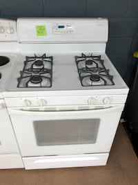 Whirlpool white gas stove