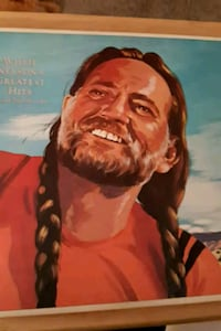 "Willie Nelson's ""Greatest Hits"" vinyl album"