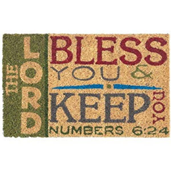 "The Lord Bless You and Keep You Numbers 6:24 Mini Door Mat 16"" x 10"" f8e8c412-3434-4154-b563-2a370f0076a1"