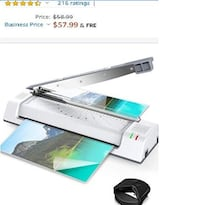 Thermal Laminator for A3/A4/A6,Two-roller System, NEW IN BOX 1/2 PRICE Virginia Beach