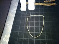 gold-colored chain-link necklace