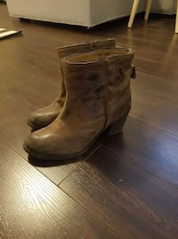 Size 7 leather booties.