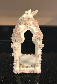 Ceramic Alter with Flowers, Leaves and Doves