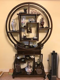 Vintage Asian display shelf