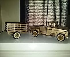 Tonka brown single cab pick up truck scale model