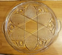 Vintage Clear Round Shape with  Serving Tray