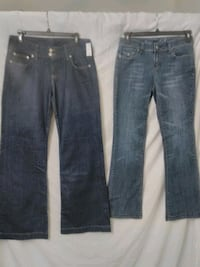 Two pairs ladie's size 6 jeans. 1st pair is New Cave City, 42127