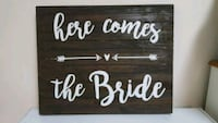 Wedding sign. Here comes the Bride Hickory, 28601