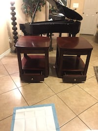 Beautiful tables with drawers!! 24 inches tall 24 inches large 27 inches wide like new  2067 mi