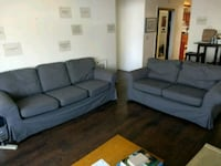 gray fabric 3-seat sofa and sofa chair Oakland, 94606