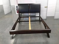 Queen Size Leather Head Board & Bed Frame. Washington
