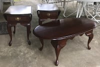 Set of 3 solid wood end and coffee tables Derwood, 20855