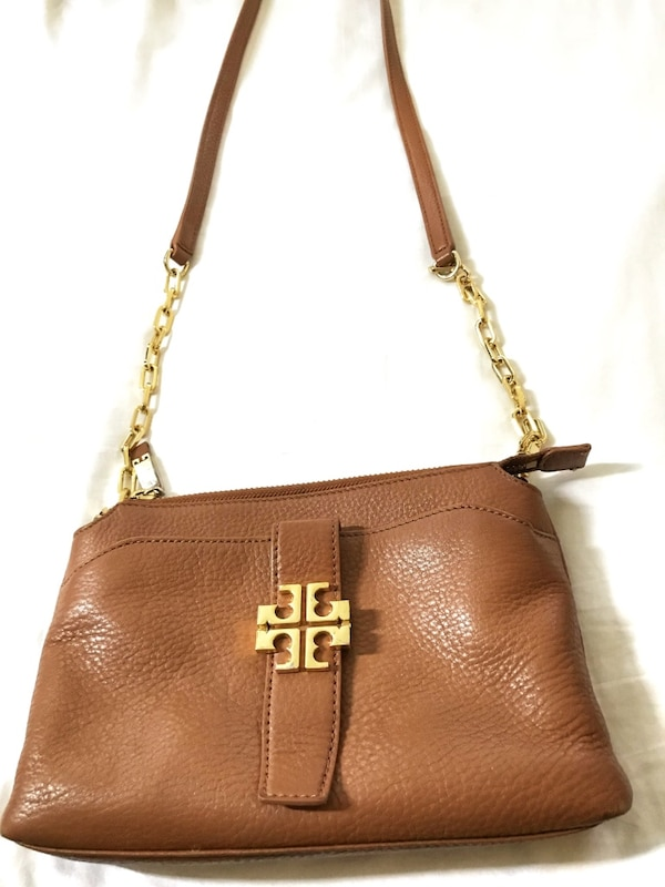 64a6f58b8e5 Used Brown leather Tory Burch crossbody bag for sale in Sunnyvale ...