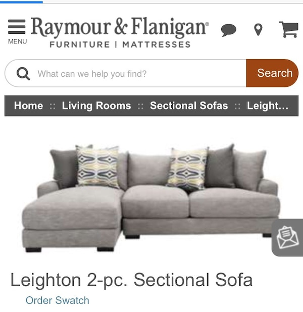 Magnificent Gray Raymour Flanigan Leighton 2 Pc Sectional Sofa Screenshot Unemploymentrelief Wooden Chair Designs For Living Room Unemploymentrelieforg