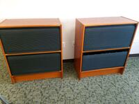2 ROLLTOP BOOKCASE FILE CABINET UNITS
