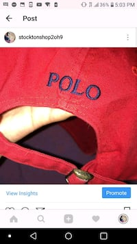red polo hate (authentic) Stockton, 95204