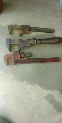 3 VINTAGE PIPE MONKEY WRENCHES Lake Elsinore, 92530