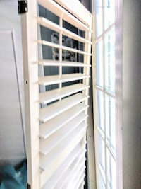 """Two wood louver blinds 26""""x69"""" Chattanooga"""