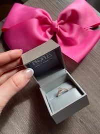 Peoples rose gold ring w/diamonds retails 1199.00