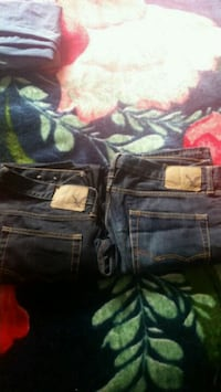 black and blue denim bottoms Surrey, V3W 0T9