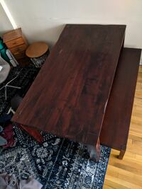 Beautiful World Market Solid Wood Dining Table + Bench Chicago