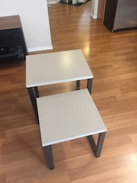 two white wooden side tables Edmonton, T6R 0G4