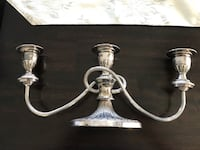 Candle holder. Silver plated. New Tecumseth, L0L