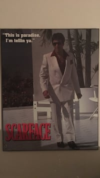 Scarface mounted movie poster