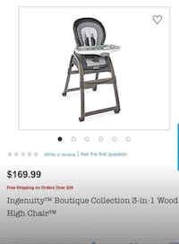 Brand new  3 in 1 High chair Alton, 78573