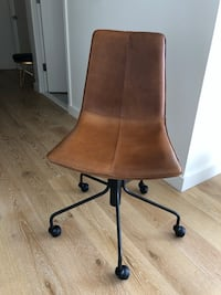 Brown leather office chair New York, 10038